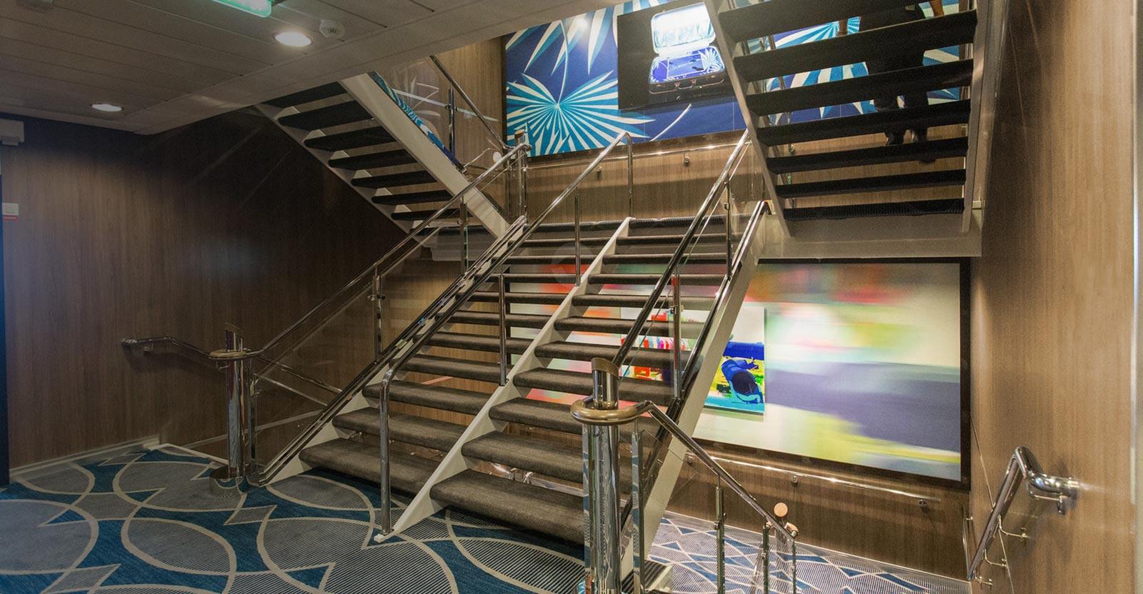 Escalier paquebot en sublimation