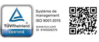 Certification iso 9001 TUV Rheinland